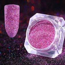 0.1mm Ultrafine Nail Art Glitter Powder Rose Red Holographic Dust BORN PRETTY