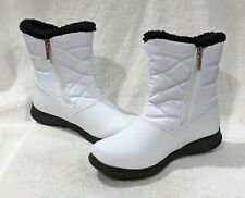totes Women's Babbie White Winter Boots - Size 9/11 NWB
