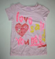 New Girls NEXT UK Love Is All You Need Heart Top Sz 8 year 128cm NWT Pink Shirt