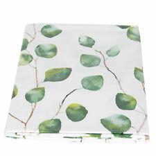 Clayre & Eef, Wachstuch Tischdecke abwaschbar weiss grün 1,37 x 1,80