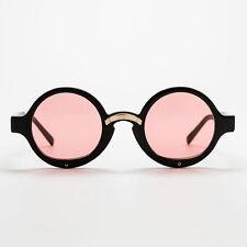 VIVON New $500 Sunglasses ODD 1 Red L Japanese Asian Fit Round Black Rhinestones