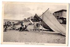 CARTOLINA 1933 VISERBA BAGNANTI ALLA SPIAGGIA RIF. 11182