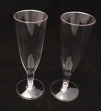 56 - CLEAR PLASTIC CHAMPAGNE GLASSES FLUTES - PARTY