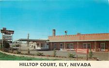 ELY NV HILLTOP COURT MOTEL CHROME POSTCARD