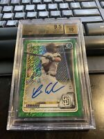 2020 BOWMAN CHROME XAVIER EDWARDS Green Shimmer REFRACTOR AUTO #'d 37/99 BGS 9.5