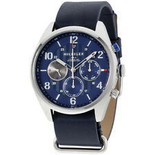 Tommy Hilfiger Corbin Blue Dial Blue Leather Strap Men's Watch 1791187
