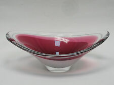 LARGE SCANDINAVIAN SIGNED FLYGSFORS COQUILLE GLASS CENTERPIECE BOWL ~ 13.5""