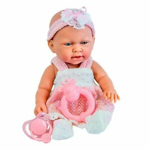"""10"""" Bathable Baby Doll Play Set with Dummy Doll's Accessories Girls Toy"""