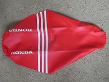 TEAM HONDA RED RIBBED GRIPPER SEAT COVER HONDA CRF450R 2005 2006 2007 2008