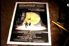 FUTUREWORLD B STYLE  ORIG MOVIE POSTER 1976 SCI FI  EXPLOITATION PETER FONDA