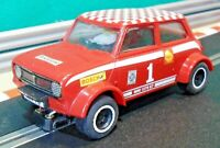 1976 Scalextric 1:32 C122 Red British Leyland Mini 1275GT Rally RESTORED
