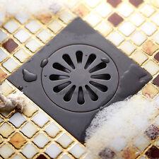 Oil Rubbed Bronze Square Bathroom Shower Drain Black Washer Waste Floor Drain