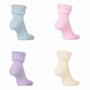 3 Pairs Women Ladies Sleeping Thermal Socks Warm Winter Cosy Bed Socks Size 4-7