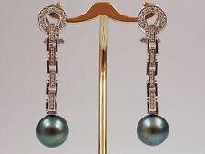 Runde Schnappverschluss Ohrschmuck aus Weißgold für Damen mit Diamanten