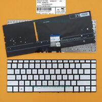 Original New fit HP Spectre 15-ap 15-ap000 x360 US UI silver backlit keyboard