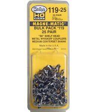 Kadee #119-25 HO Scale Metal Whisker Couplers Medium Centerset Shank