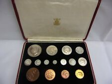 More details for 1937 proof set of 15 coins 1937 – farthing to crown, + maundy coins