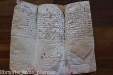 ✒ LS Henry de BOURBON MONTPENSIER Bretagne EXCEPTIONNELLE nomination vélin 1590
