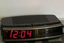 GE 7-4619A LED Digital Alarm Clock AM FM Radio w/ Battery Backup Snooze Vintage