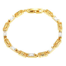 Fashion Style Women 18K Gold plated Multi-color AAA+ CZ Charm Bracelet Jewelry