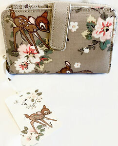 Cath Kidston Disney Bambi Purse Wallet Rose Brown Beige Large Heywood Thumper