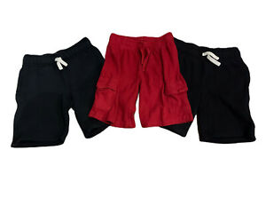 LOT of 3 Gymboree Boys Play Shorts Size 6 / 7 - 2 Black - 1 Red Pockets Stretch