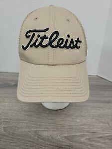 EUC Titleist FJ Pro V1 Beige Tan Golf Hat Cap Size Small - Medium
