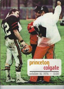 1976 COLGATE AT PRINCETON PROGRAM -  IVY LEAGUE