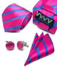 "New ""VYNY"" JACQUARD WOVEN Men's Neckties Tie+Hanky+Cufflinks Sets (VS132)"