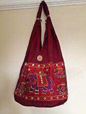 New HIPPIE FESTIVAL COTTON CANVAS SLING SHOULDER  hand bag  Jhola tote bag party