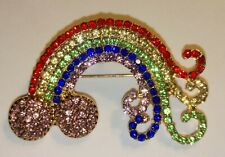 Pendant in gold foil box Beautiful! Betsey Johnson Colorful Rainbow Brooch Pin