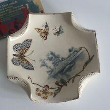 Coupelle LUNEVILLE Décor Papillons Fleurs Art Nouveau Jugendstil Secession