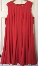 Calvin Klein Women's 22W carreer sleeveless vertical panelled A-line Dress Red