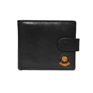 Wolverhampton Wanderers football club black leather wallet