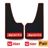 Pair Black Soft Rubber Sports Styling Mud Guard Fender Cover Protector For ALL