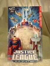2004-JLU -SUPERMAN/BRAINIAC/MARTIAN MANHUNTER -PHASING -FIGURE SET -MISP -N/M