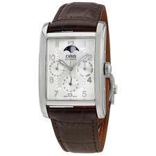 Oris Rectangular Complication Silver Dial Mens Watch 582-7694-4061LS