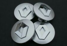 RENAULT ALLOY WHEEL CENTRE CAPS 57mm SILVER SET of 4 Megane Laguna Clio Twingo