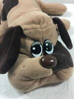 "Vintage 1985 Large Pound Puppy Puppies 16"" Brown Dog Spots Plush Stuffed Animal"