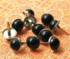 24 pieces -12mm PEARL BRADS - BLACK Scrapbook Wedding Home Decor