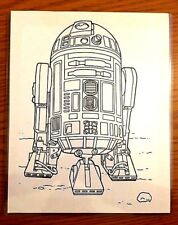 MegaCon Exclusive Star Wars R2-D2 Black & White Print to Color in Hard Sleeve