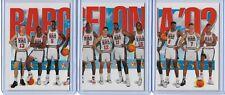 1991-92 SKYBOX OLYMPIC 1992 DREAM TEAM 3 CARD SET  MICHAEL JORDAN / BIRD / MAGIC