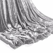 Silver Luxury Crushed Velvet Sofa Bed Throw Blanket Large Size 150 x 200cm