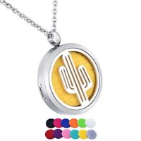 NEW HOT Stainless Steel Pendant Necklace Aromatherapy Essential Oil Diffuser