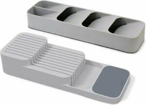 Joseph Joseph Drawerstore Compact Cutlery & Knife Organiser Set of 2