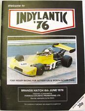 Brands Hatch indylantic'76 6th GIU 1976 MOTOR RACING PROGRAMMA UFFICIALE