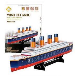 Ship Cruise Carboard Jigsaw Model 3D Puzzle Titanic 30pcs DIY Educational Toys