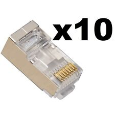 10 x DATAPRO CAT6 EZ RJ45 EZ-RJ45 NETWORK LAN SHIELDED FTP CRIMP CONNECTORS CAT6