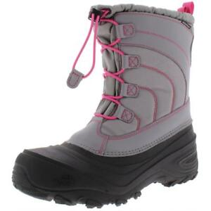 The North Face Girls Alpenglow IV Insulated Leather Winter Boots Shoes BHFO 7759