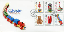 Gibraltar 2015 FDC Europa Old Toys 6v Set Cover Wooden Train Teddy Bear Yoyo